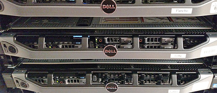Photo: closeup of web servers.
